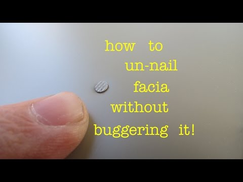 How to ● remove a nail from FASCIA or SHEET METAL without destroying