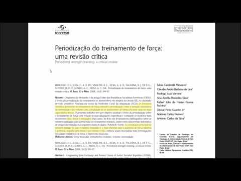 Видео Exemplo de artigo científico