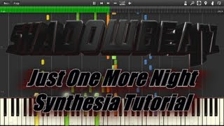 """ShadowBeatz - Just One More Night"" Synthesia Tutorial (Free Sheet Music Download)"