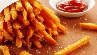 Healthy Fries Recipe That's Good For Abs ( Sweet Potato Fries )