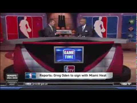 August 02, 2013- NBATV-Greg Oden Agrees to a 2 year deal with Miami Heat(Has Not Played since 2009)