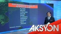 Mga pangalan ng bagyo sa 2020, inilabas ng PAGASA