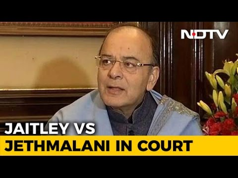Minister Arun Jaitley Cross-Examined In Open Courtroom By Ram Jethmalani