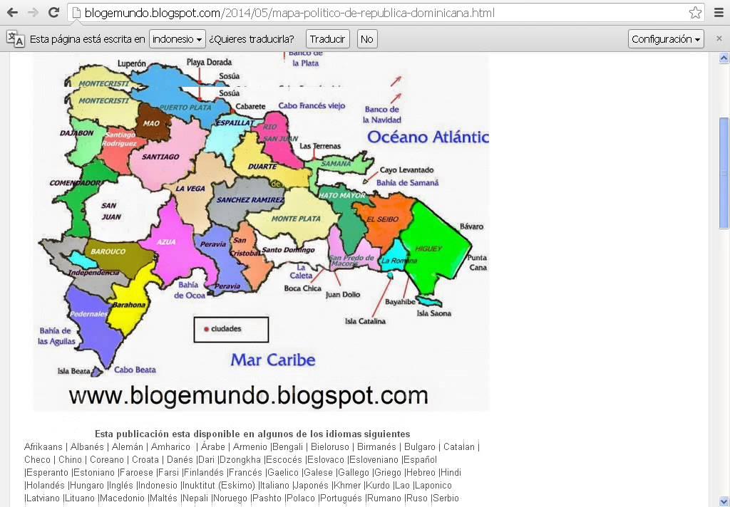 Mapa poltico de Repblica Dominicana  By Blogemundo  YouTube