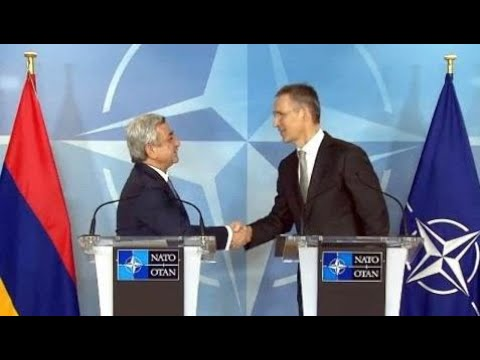 Breaking News:  NATO secretary general Jens Stoltenberg and Armenian Pres.  Sargsyan  joints news c