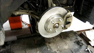 How to replace the front rotors and brake pads on 2007-2012 Nissan Altima Maxima Quest Sentra brakes