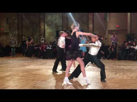 Elijah Geolina and Victoria P. Preteen 2 Champions! Holiday Dance Classic 2016 Las Vegas