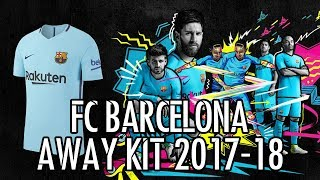 The new fc barcelona away kit has a palette of vivid blue and red with contemporary detailing inspired by club's history culture on collar — partially defined catalan flag, ...