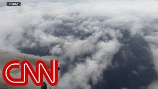 Hurricane hunter flies over Category 4 storm Florence thumbnail