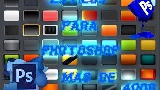 Descargar Más De 4000 Estilos Para Photoshop Cs5 Cs6 etc. 2014