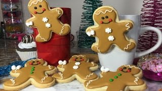 Hanging Christmas Gingerbread Man Cookies(How To)