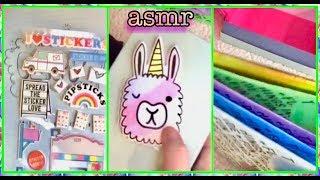 Quiet ASMR whisper 🎧  Crinkle Crinkle, Stickers Galore!  Gift Box DIY
