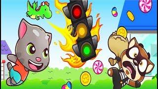 НОВЫЕ Приключения ТОМ БЕГ за КОНФЕТАМИ #11 игра мультик для детей на андроид Talking Tom Candy Run