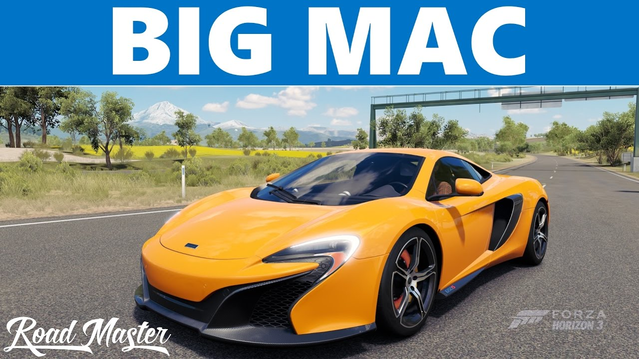 Forza Horizon 3 - 2015 McLaren 650S Top Speed - YouTube