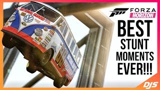 BEST FORZA STUNT MOMENTS EVER!! (Forza Horizon Wins, Tricks and Stunts)