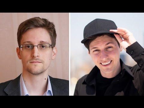 Сноуден и Дуров поспорили о безопасности Telegram и WhatsApp