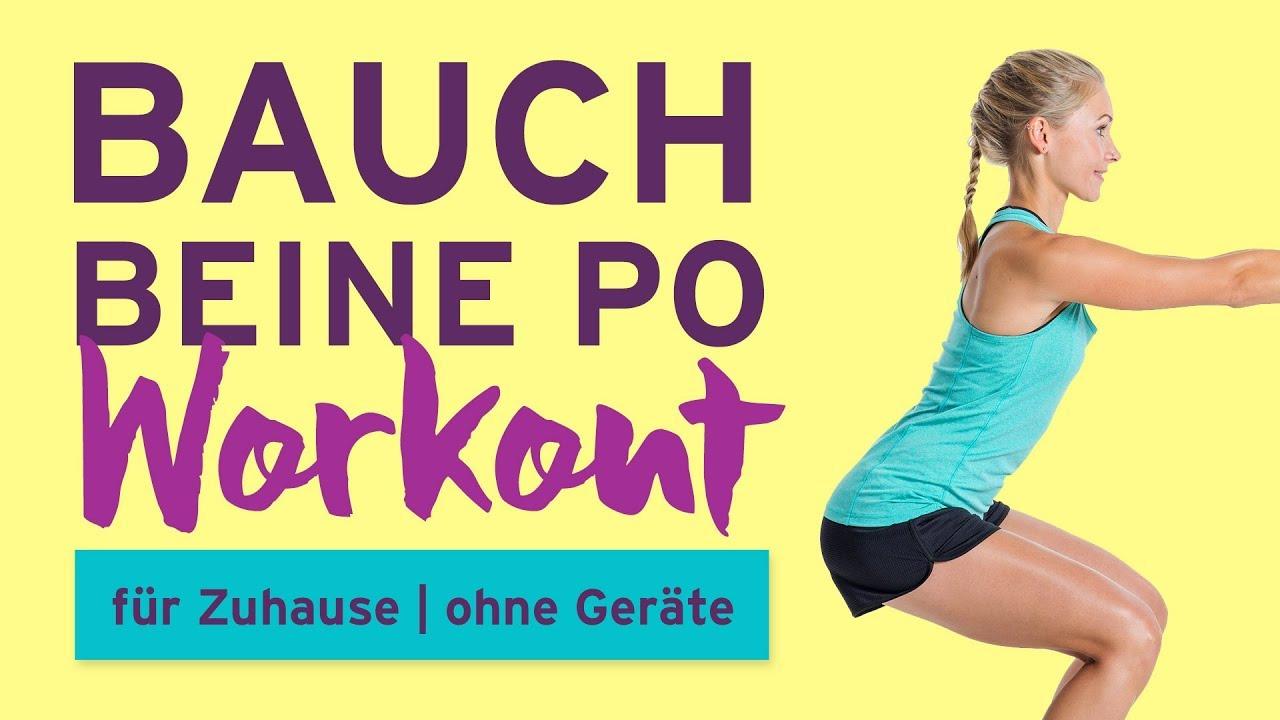 Bauch Beine Po Workout Für Zuhause Ohne Geräte Youtube