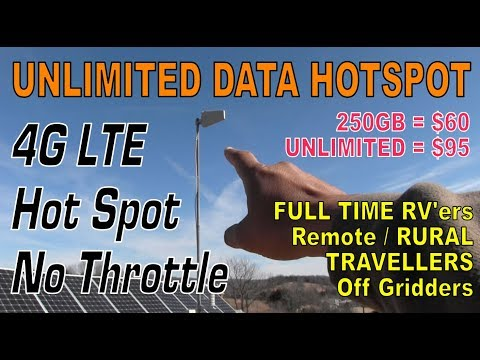 UNLIMITED Internet Hotspot for Rural RV NO Throttle 4G LTE