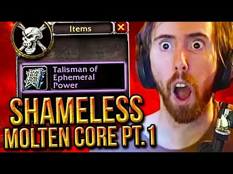 Asmongold FIRST Molten Core Run With His Level 60 Warlock - PART 1 - Classic WoW