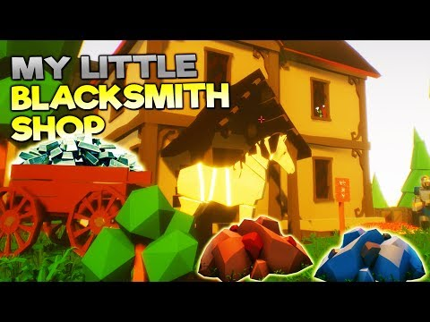 SECRET HIDDEN ORE FOUND BY ABANDONED HOUSE! - My Little Blacksmith Shop Update Gameplay