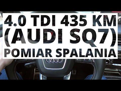 Audi SQ7 4.0 TDI 435 KM (AT) - pomiar zużycia paliwa