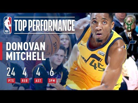 Donovan Mitchell Ties Jazz Rookie Record With 6 Threes | November 25, 2017