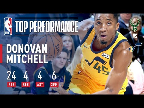 Donovan Mitchell Ties Jazz Rookie Record With 6 Threes | November 25, 2017