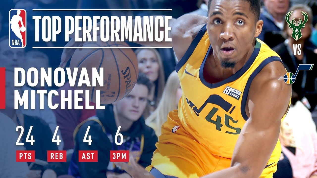 With Ties 6 Mitchell  Threes Rookie Jazz Record Donovan