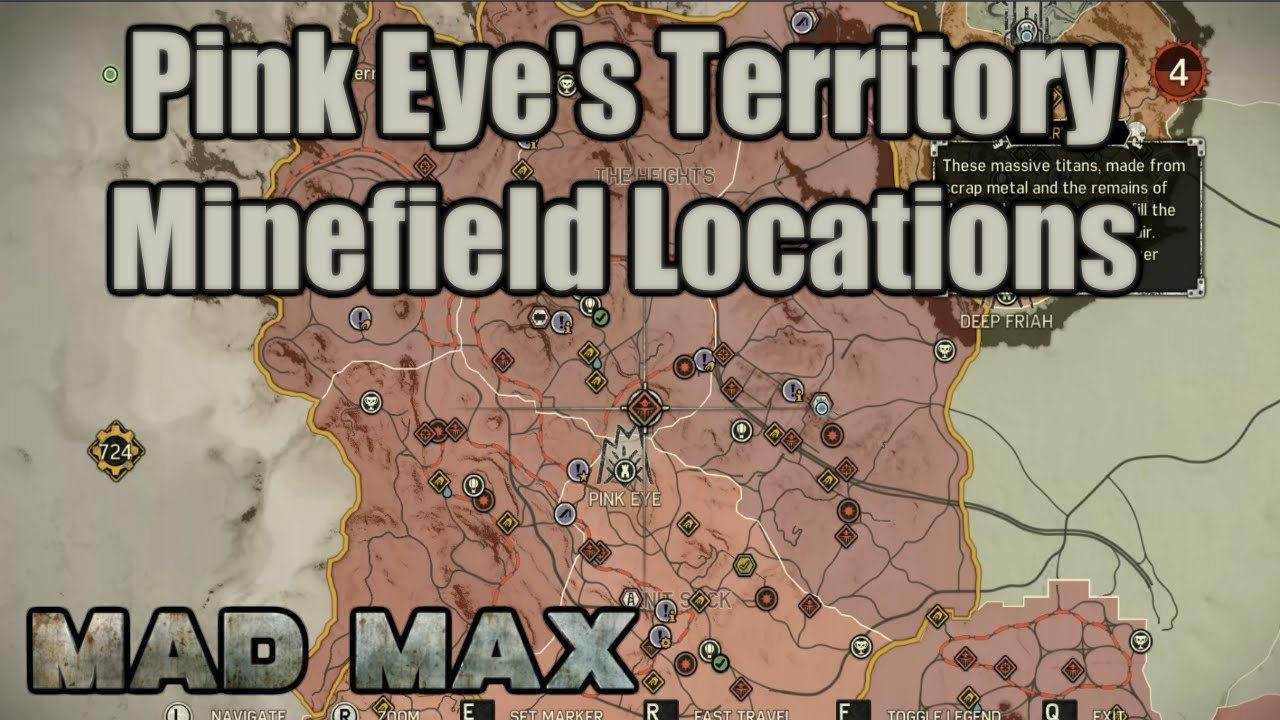Mad Max Minefield Locations Pink Eyes Territory Knit - Us minefield map