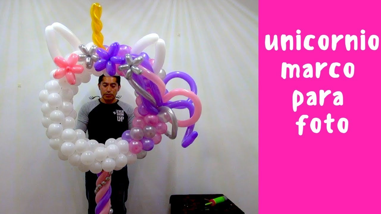 Unicornio marco para foto o portaretrato - YouTube
