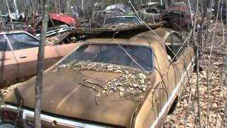 private old car junk yard