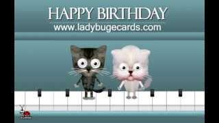 С днем рождения! (видео-открытка с кошками)