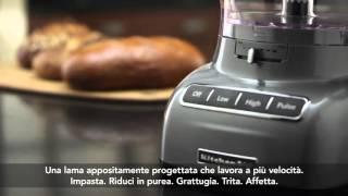 Video: KitchenAid Food processor 3,1 l 5KFP1335EAC - mandlová