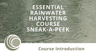 Essential Rainwater Harvesting Course with Peter J Coombes & Michelle Avis