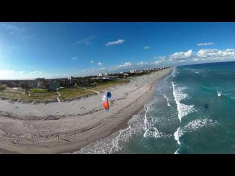 Florida Travel: 360 Video: Kiteboarding In Delray Beach