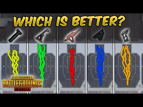 WHICH IS THE BEST GRIP IN PUBG MOBILE Guide/Tutorial (Recoil Analysis) Tips and Tricks