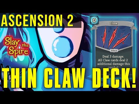 THIN CLAW DECK! - ASCENSION MODE 2 THE DEFECT [Slay The Spire]