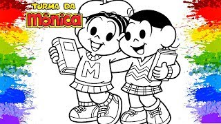 TURMA DA MONICA Magali Coloring book pages Cartoon Back to School Art for kids tv how to color girls
