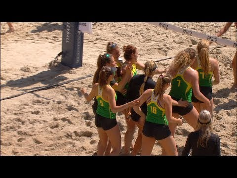 2019 Pac-12 Beach Volleyball Championship: Oregon picks up first win in championship competition