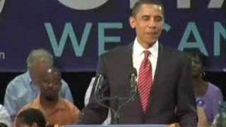 Barack Obama in Raleigh - Get That Dirt Off Yor Shoulders