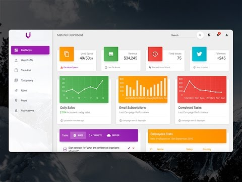 Creative-Tim Style Material Design Dashboard - C#, VB.NET -