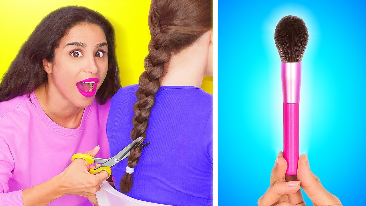 WEIRD WAYS TO SNEAK MAKEUP INTO CLASS || DIY Ideas To Sneak Anything Anywhere by 123 GO!