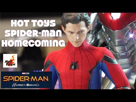 Hot Toys Spider-Man Homecoming Deluxe Set Unboxing review MMS426
