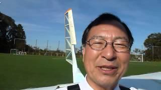 サレジオ高専のソーラープレーンに搭乗体験2012年