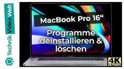 MacBook Pro Programme deinstallieren und löschen