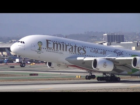 LAX Spotting: Close-up Widebody Takeoffs (Imperial Hill) in HD! A388, B747s, B787s, A340s, B777s