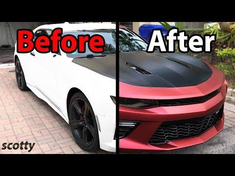How to Plasti Dip Your Car - Chevy Camaro - with Scotty Kilmer