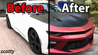 How to Plasti Dip Your Car - Chevy Camaro - with Scotty Kilmer