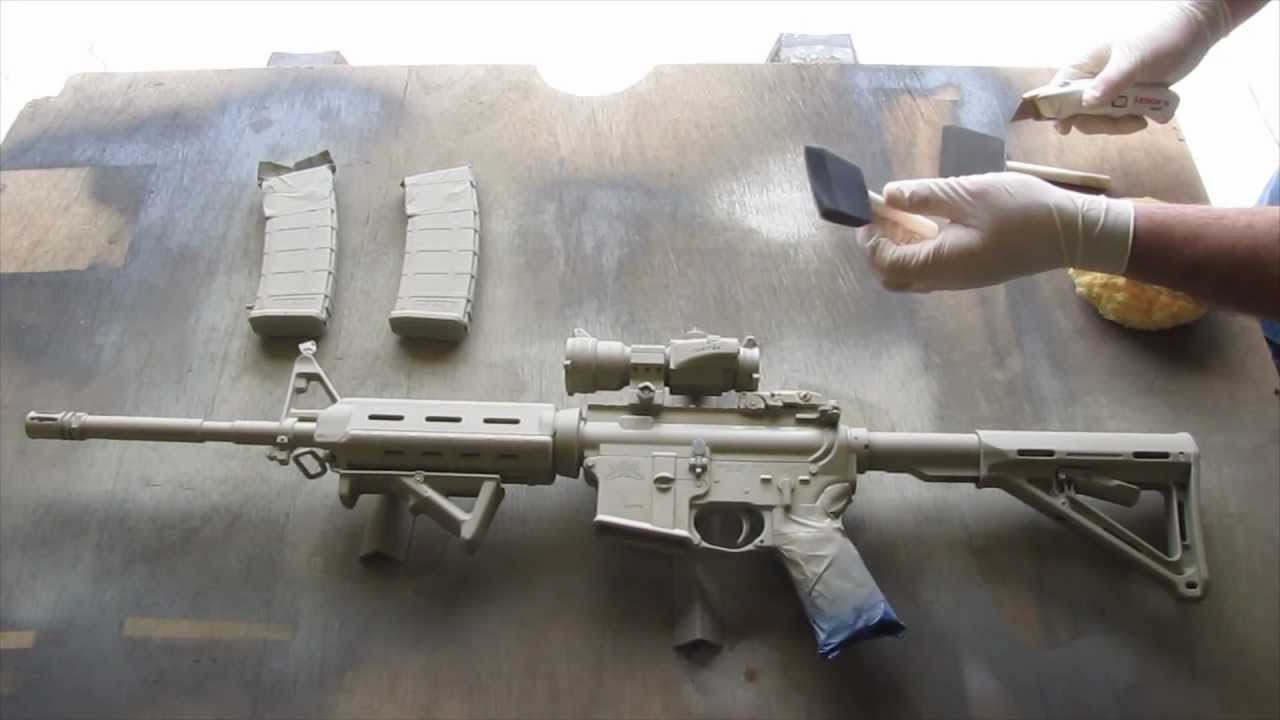 how to camouflage a rifle ar15 youtube. Black Bedroom Furniture Sets. Home Design Ideas