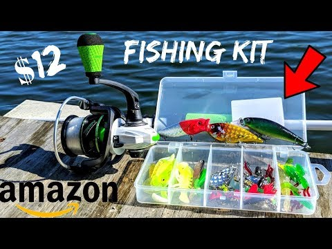 CHEAP Amazon Fishing Kit CHALLENGE!!! (TRESPASSING???)